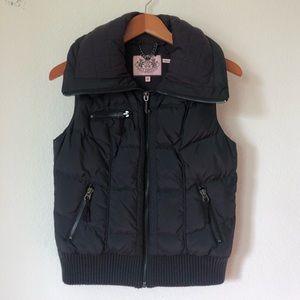 Juicy Couture Puffer Vest Black | M